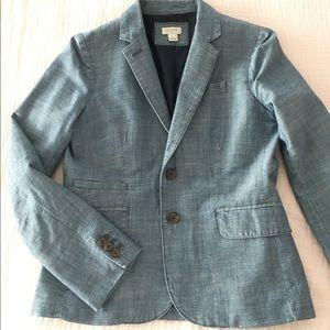 Jcrew chambray blazer, size 2
